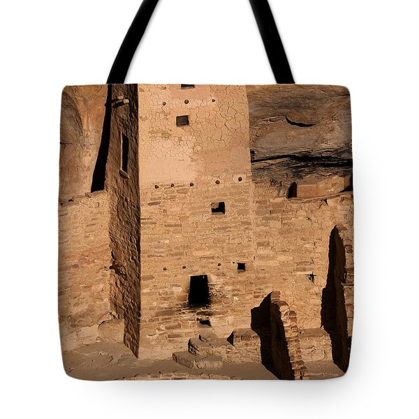 Square Tower At Sunset Tote Bag
