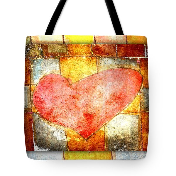 Squared Heart Tote Bag