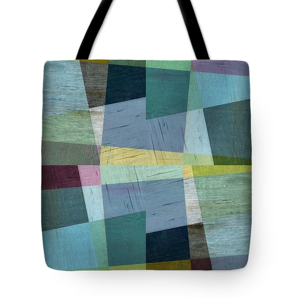 Squares And Shims Tote Bag by Michelle Calkins