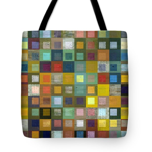 Tote Bag featuring the digital art Squares In Squares Five by Michelle Calkins