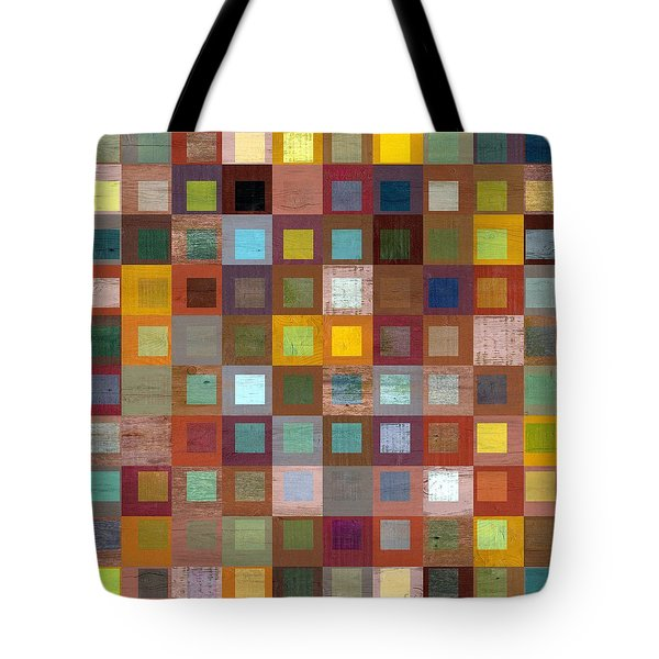 Squares In Squares Four Tote Bag by Michelle Calkins