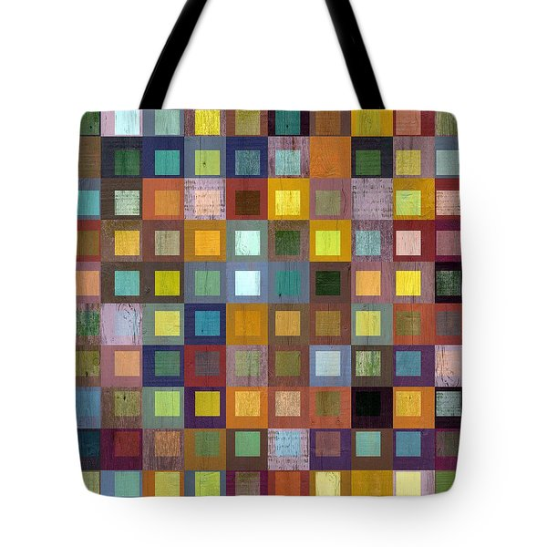 Squares In Squares One Tote Bag by Michelle Calkins
