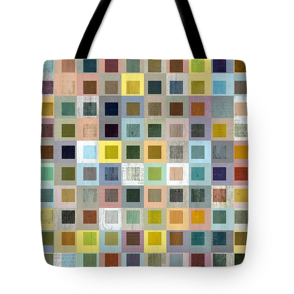 Tote Bag featuring the digital art Squares In Squares Three by Michelle Calkins