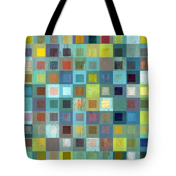Tote Bag featuring the digital art Squares In Squares Two by Michelle Calkins