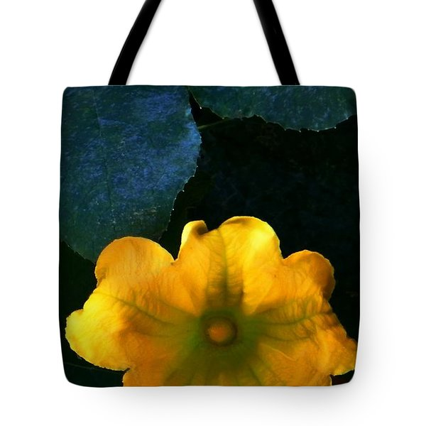 Tote Bag featuring the photograph Squash Blossom by Lenore Senior