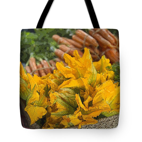 Tote Bag featuring the photograph Squash Blossoms by Jeanette French