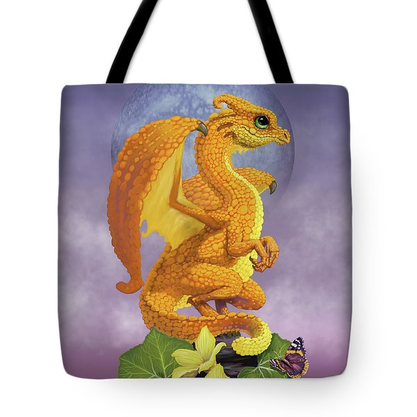 Tote Bag featuring the digital art Squash Dragon by Stanley Morrison