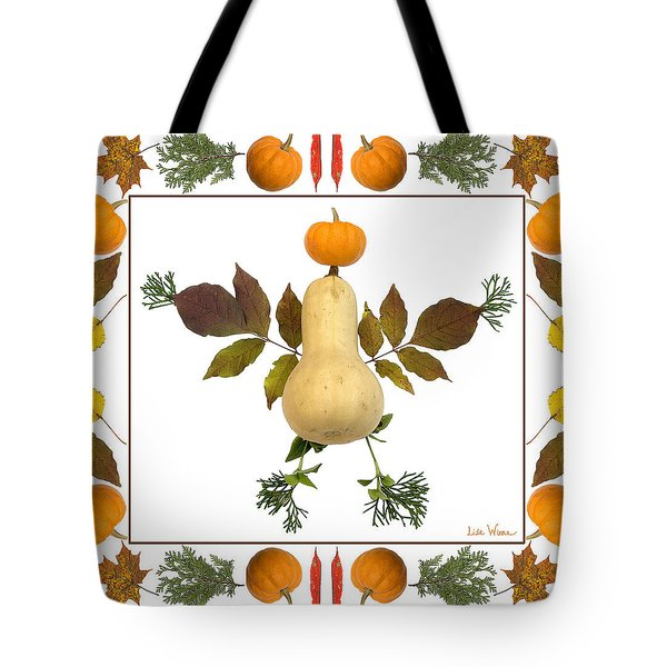 Squash With Pumpkin Head Tote Bag