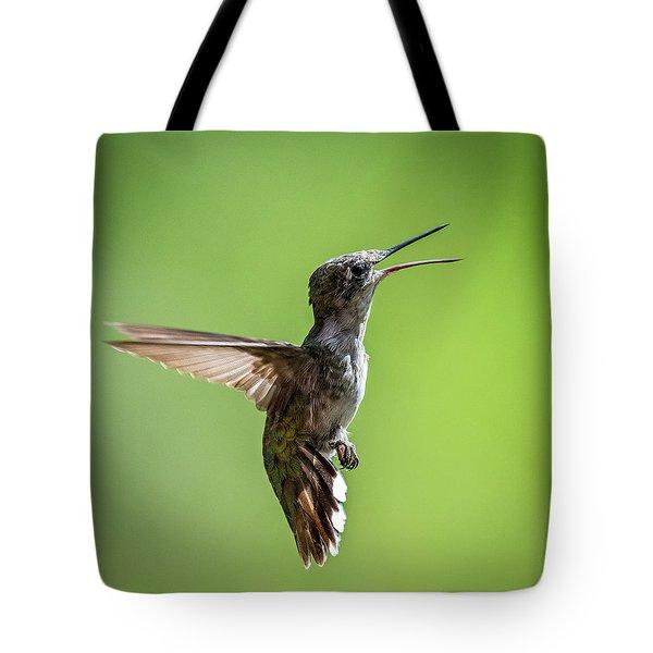 Squawking Humming Bird Tote Bag