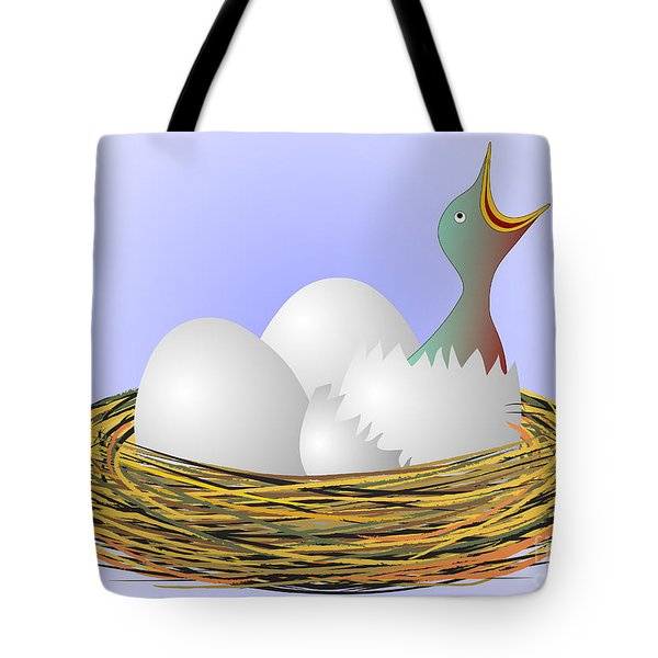 Squeaker Hatching From Eggs Tote Bag by Michal Boubin