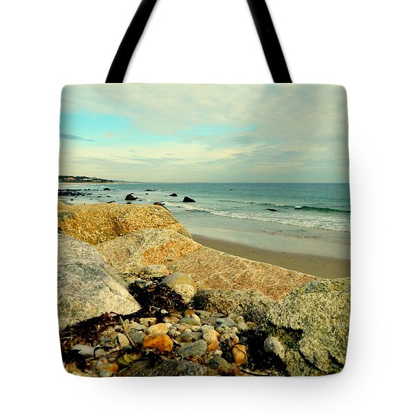 Squibby Cliffs And Mackerel Sky Tote Bag