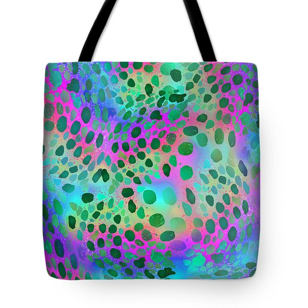 Squid Spots - Green On Bright Tote Bag