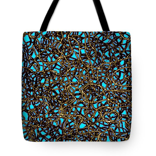 Squiggle 6 Tote Bag by Andy  Mercer
