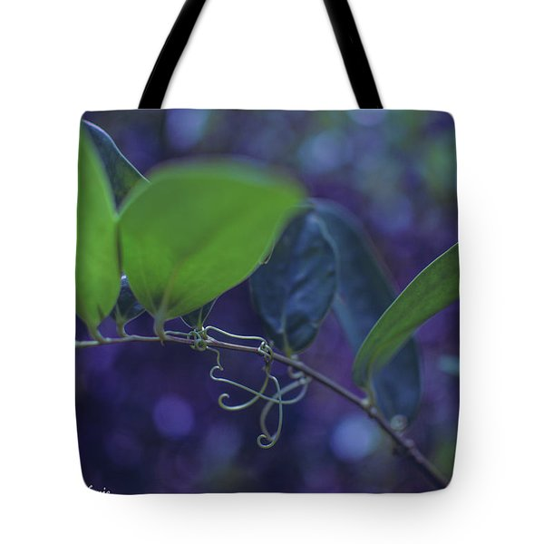 squiggle Vine Tote Bag by Stefanie Silva