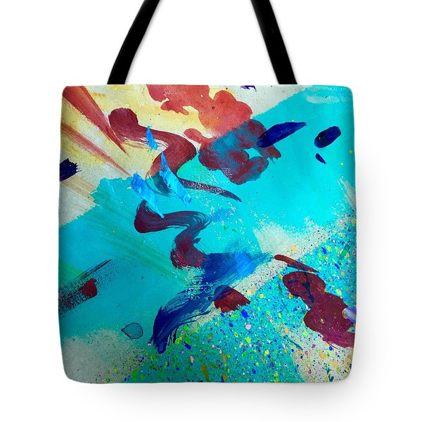 Tote Bag featuring the painting Squiggles And Stripes by Darice Machel McGuire