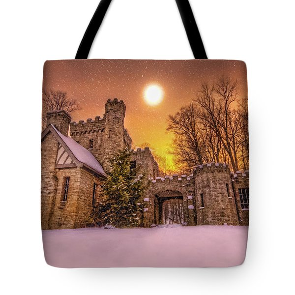 Squires Castle In The Winter Tote Bag