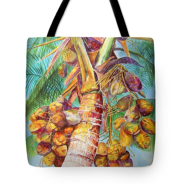 Tote Bag featuring the painting Squire's Coconuts by AnnaJo Vahle