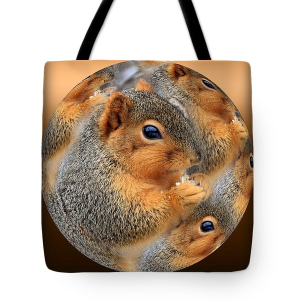 Squirrel In A Ball No.3 Tote Bag