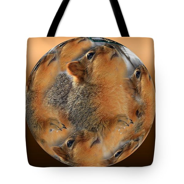 Squirrel In A Ball Tote Bag