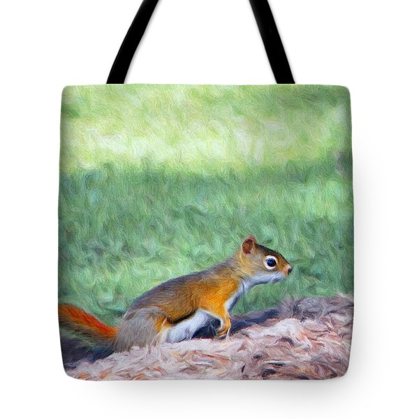 Squirrel In The Park Tote Bag by Jeff Kolker