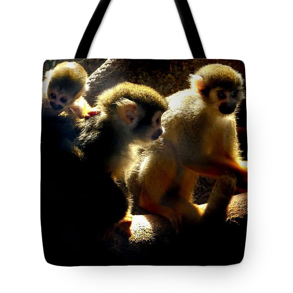 Squirrel Monkey Tote Bag