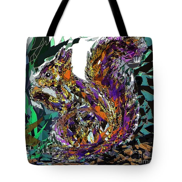 Squirrel Tote Bag by Navo Art