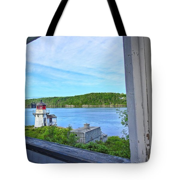 Squirrel Point View From The Deck Tote Bag