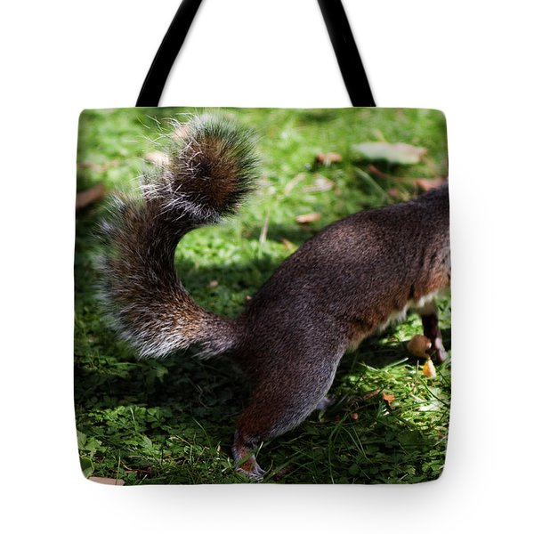 Squirrel Running Tote Bag