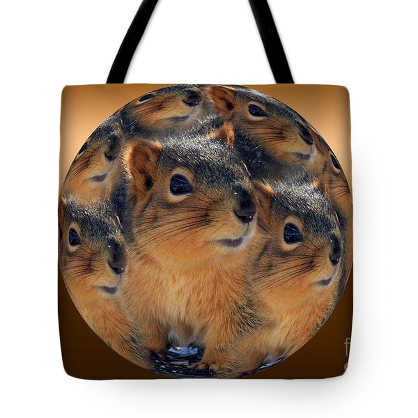 Squirrels In A Ball No. 2 Tote Bag