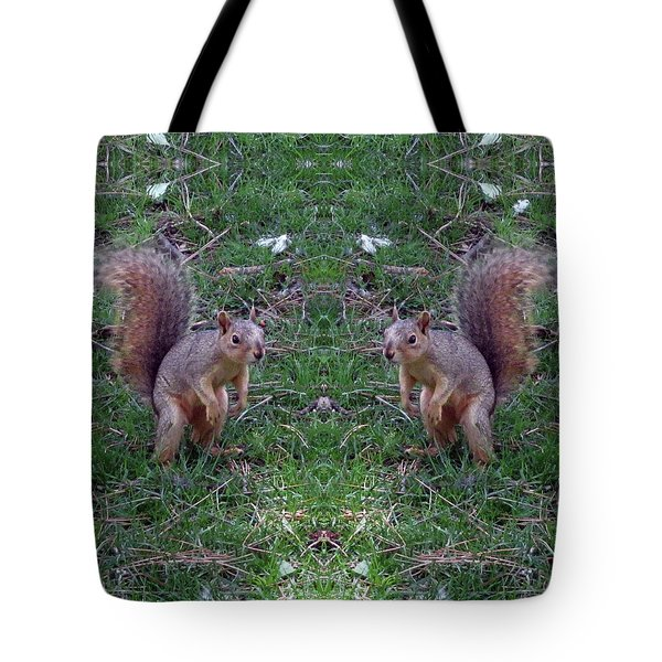 Squirrels With Question Mark Tails Tote Bag