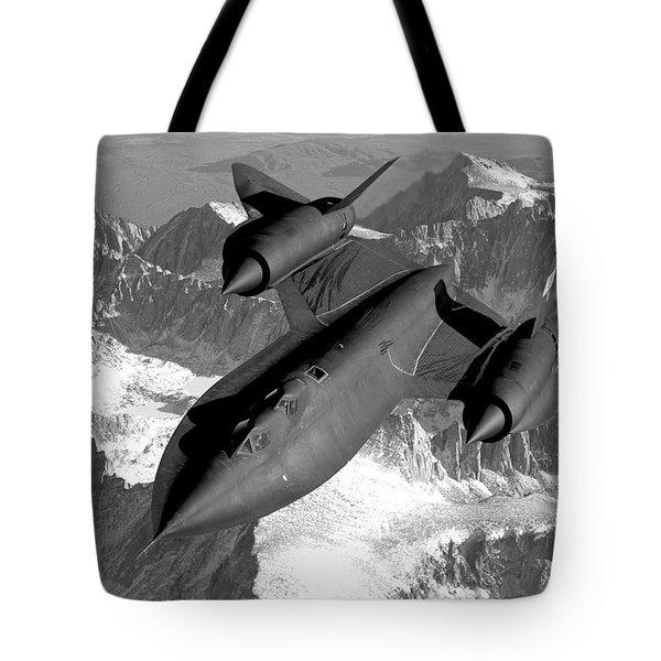 Sr-71 Blackbird Flying Tote Bag