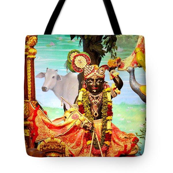 Sri Nath Ji, Radha Gopinath Mandir, Mumbai Tote Bag by Jennifer Mazzucco