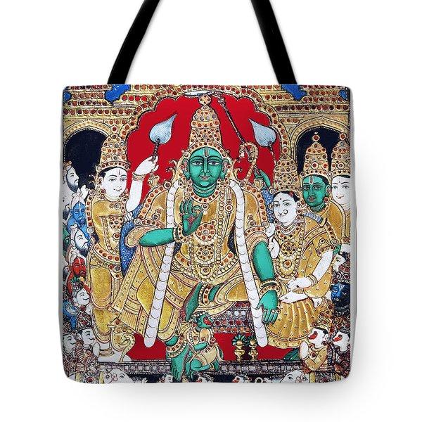 Sri Ramar Pattabhishekam Tote Bag