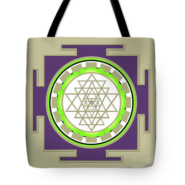 Sri Yantra Of Prosperity Tote Bag