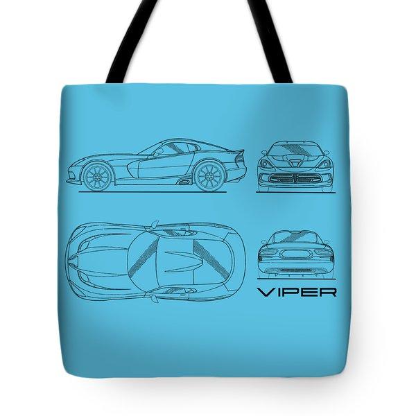 Srt Viper Blueprint Tote Bag by Mark Rogan