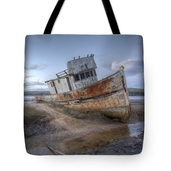 Tote Bag featuring the photograph Ss Point Reyes In Inverness Before Demolition by John King