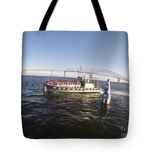Ssc Buoy 122 Tote Bag by Tony Cooper