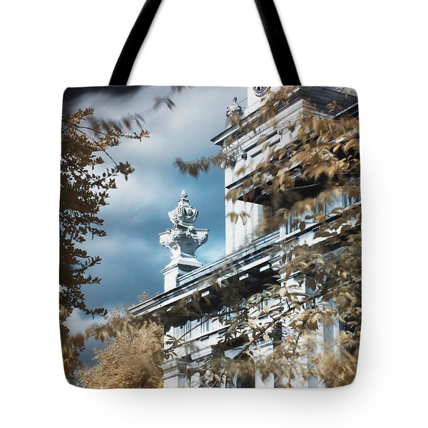 Tote Bag featuring the photograph St Alfege Parish Church In Greenwich, London by Helga Novelli
