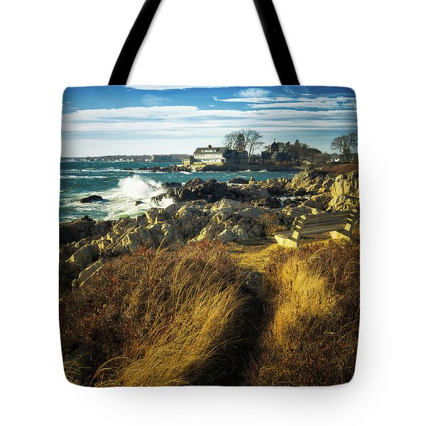 Tote Bag featuring the photograph St. Anne's Church-kennebunk, Maine by Samuel M Purvis III