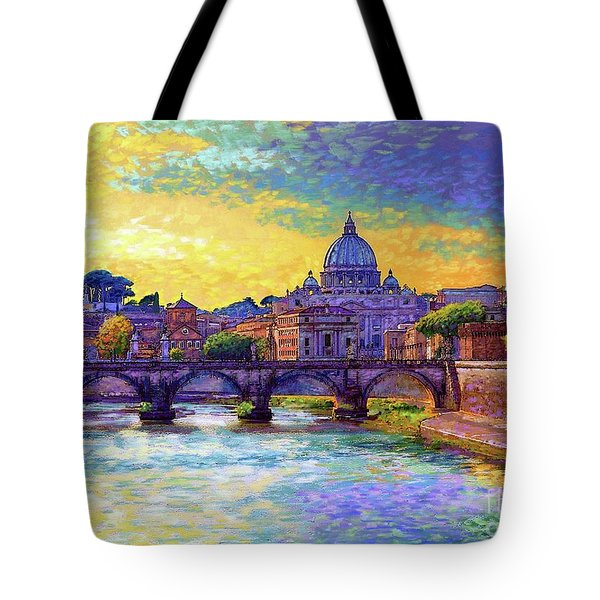 St Angelo Bridge Ponte St Angelo Rome Tote Bag