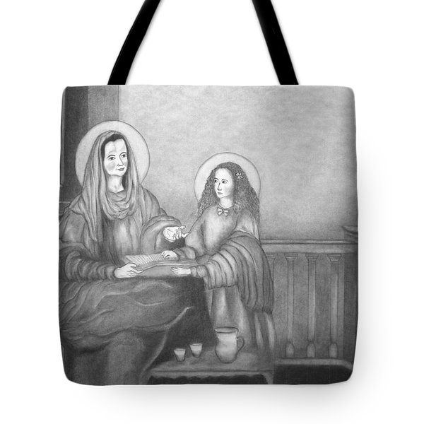 St. Anne And Bvm Tote Bag