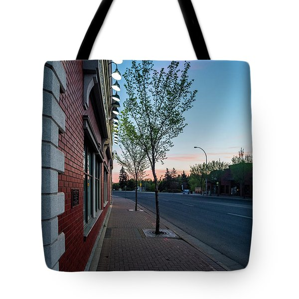 Tote Bag featuring the photograph St. Anne Street At Dusk by Darcy Michaelchuk