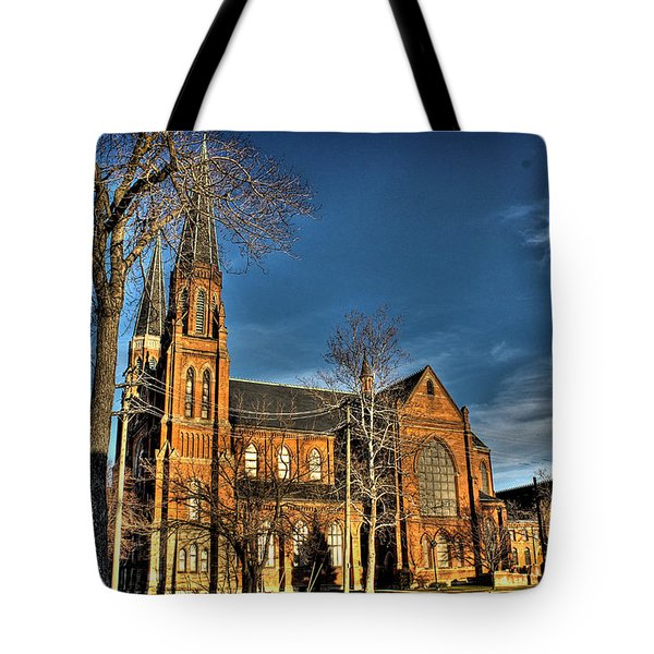 St. Annes Detroit Mi Tote Bag by Nicholas  Grunas