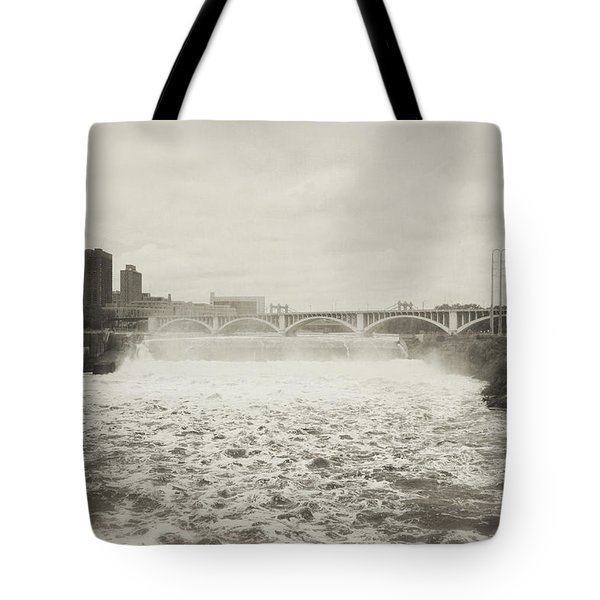 St. Anthony Falls In Spring Tote Bag