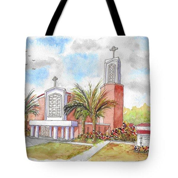 St. Anthony Of Padua Catholic Chuch, Manteca, California Tote Bag