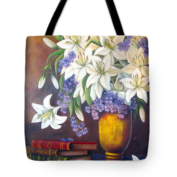 St. Anthony's Lilies Tote Bag