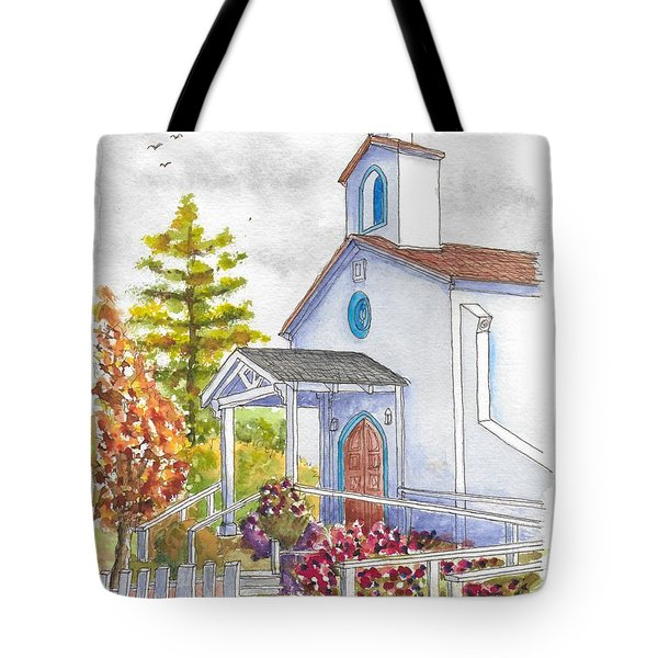 St. Anthony's Catholic Church, Mendocino, California Tote Bag