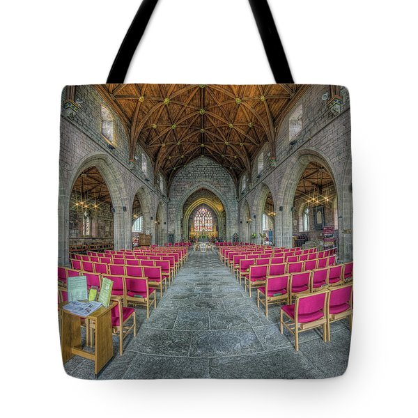 Tote Bag featuring the photograph St Asaph Cathedral by Ian Mitchell