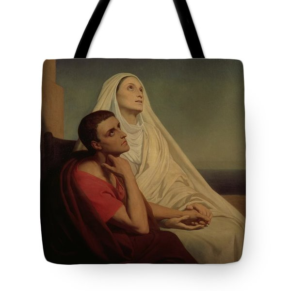 St Augustine And His Mother St Monica Tote Bag by Ary Scheffer