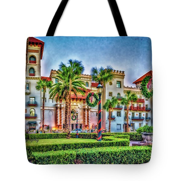St. Augustine Downtown Christmas Tote Bag